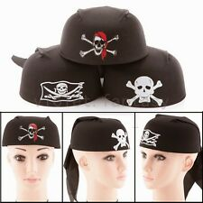 Halloween Costume Cospaly Pirate Jack Captain Head Scarf Hat Dome Pirate Cap New
