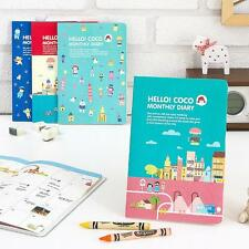 2015 Kawaii Cute Diary Journal Scheduler Planner - Hello Coco Monthly Diary
