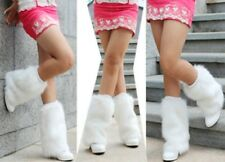Sexy 9inch Fashionable Boot Toppers Cuff Fluffy Soft Furry Faux Fur Leg Warmers