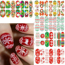 Christmas Snowflake Luminous Glow Full Wraps Nail Art Stickers Decal Foils Tips