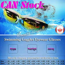 New Adult Myopia Swimming Goggles Anti Fog UV protective - 3.5 Free Shipping