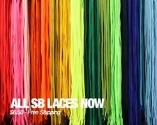 NEW FULLY LACED SB LACES REPLACEMENT SHOELACES FOR NIKE DUNK SB 54 INCH LOW HIGH