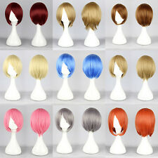 Fashion Black Short Straight Anime party Cosplay Full Wig Free Shipping