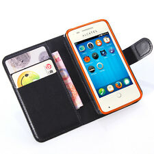PU Leather wallet Magnetic flip Stand Case cover skin For Alcatel Mobile phones