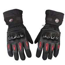 Pro-biker Windproof Waterproof Black Motorcycle Winter Bicycle Warm Gloves M-XL