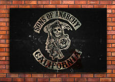 SONS OF ANARCHY TV SERIES BOX CANVAS PRINT or POSTER A0 A1 A2 A3 A4