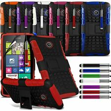 Heavy Duty Shockproof Stand Hard Back Case Cover,SP & Stylus For Various Mobiles