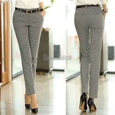 Elegant Women Slim Small Feet Pencil Pants Pleated With Belt Harem Hot Trouser