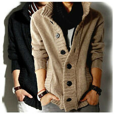 New Fashion Men's knitted Slim Fit Casual Jumper Cardigan Long Sleeve Coat 66d