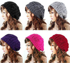 Winter Warm Womens Knitted Crochet Slouch Baggy Beret Beanie Hat Soft Stylish