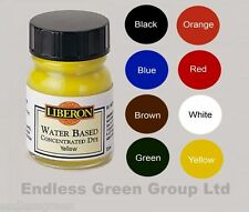 Liberon Concentrated Water Based Wood Dye 15ml Bottle Make Wood Stain Toy Safe