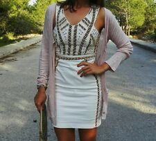 ZARA aztec ethnic beaded sequins dress cream bloggers Favourite Sold Out L