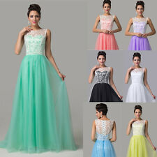 STOCK Lace SEXY Bridesmaid Dress Prom Party Cocktail Formal Evening Long Dresses