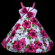 UsaG PR O23 w801 Magenta X'mas Friday Holiday Party Flower Girls Dress 2,3,4-12y