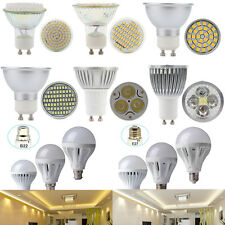 B22 E27 GU10 6W 10W 12W Dimmable SMD LED Globe Light Bulb Lamp Warm Cool White