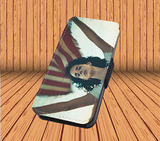 Lana Del Rey For Faux Leather Flip iPhone & Samsung Galaxy Case Cover SF18