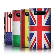 Phone Case Hard Back Cover/Skin Sleeve for Nokia Lumia 820 / Country Flag/Flags