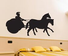 Wall tattoo Chariot, Race car Antiquity Sticker, Horses Decoration, Rome 1M 322