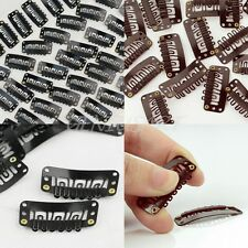 40 PCS U Shap Snap Metal Hair Clips for Hair Extensions Weft Clip-on Wig 32mm
