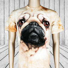 Pug Dog Face T-Shirt - The Mountain Big Face Tees | mens women pugs animal