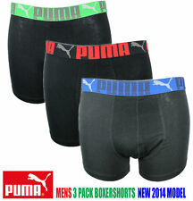 PUMA 3 PACK Boxershorts M AND L  MEN  BLACK RED BLUE XMAS SHORTS TRUNKS Boxers