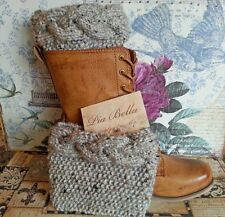 Handmade Cable Knitted Boot Cuffs -Boot toppers,leg warmers BIG & EXTRA SIZES