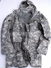 New ORC US Army Improved ACU Rainsuit Wet Weather Rain Jacket Parka Coat +Liner