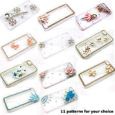 3D Bling Luxury Crystal Diamond Rhinestone Clear Case Cover Skin for iPhone 5s/6
