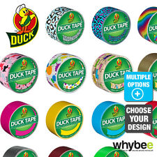 DECORATIVE DUCK TAPE 48mm x 9.1m ROLL - ALL COLOURS & DESIGNS DUCT GAFFA TAPE