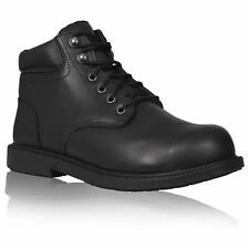 Keuka Mens Black Steel Toe Cap Ankle Boots Police Security Work Boot Safety Shoe
