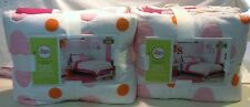 CIRCO PINK FLOWER DOT QUILT SET TWIN & SHAM OR FULL/QUEEN & 2 SHAMS PINK