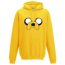 ADVENTURE TIME JAKE THE DOG HOODIE - INSPIRED FUNNY DESIGN UNISEX HOODY TOP