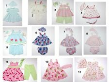 NEW Toddler Infant Baby Girls 3 Pc Dress Pants Hat BloomersOutfit Set Sz:0-3-24