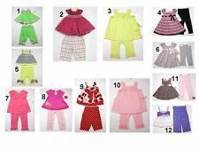 NEW Children Toddler Kids Baby Girls 2 Pc  Dress Pants Tops Outfit Set Sz:6-9 To