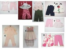 NEW Children Toddler Baby Girls 2 Pc Pants Tops Outfit Set Sz:3-6,12,18,24,3T Ca