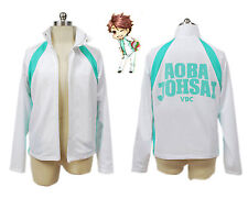 Hot sell!Haikyuu Aoba Johsai High School Uniform Training Jacket Cosplay Costume