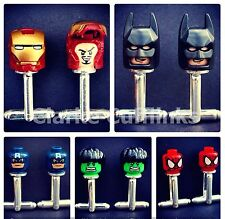 LEGO Marvel Superhero Cufflinks Ironman Batman Spiderman Wedding Mens Groom Dad