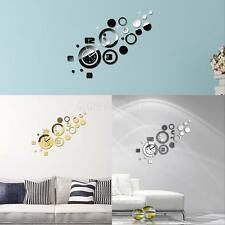Luxury Modern 3D DIY Wall Clock Sticker Decals Home Room Art Decor Mural Watches