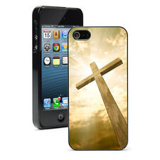 """For iPhone 4 4S 5 5S 5c 6 4.7"""" 6 Plus Hard Case Cover 255 Cross Against Sky"""