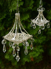 Chandelier - Clear Glass Ornament - Christmas Tree decoration Goodwill