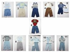 NEW Toddler Infant Baby Boys 3 Pc Pants Denim Vest Hooded Jacket Zippered Sweate