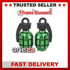 Savage Alloy Hand Grenade Style Anodized Bike Cycle Valve Caps