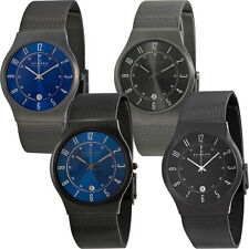 Skagen Titanium Mesh Mens Watch | Blue or Black Versions