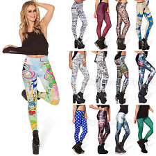 Fashion Women Sexy Digital Graphic Printed Stretchy Tight Pencil Leggings Pants