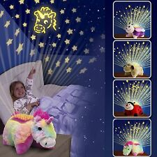 ANIMAL LITES KIDS CHILDRENS TOY CUDDLY PET PILLOW CUSHION DREAM NIGHT LIGHT BED
