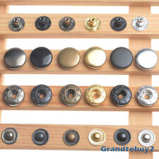 10/12.5/15/17mm Press Studs Snap Fasteners Poppers Sewing Clothing Buttons Craft