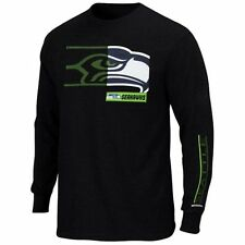 Seattle Seahawks MENS Long Sleeve Shirt Best Team Standing by Majestic Athletic