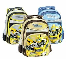 Transformers  Bumblebee Backpack School Bag Student Boys Girls Yellow Blue Gray