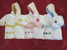 Bambini Terry Hooded Infant Baby Bath Robes 100% cotton sz 0-3 mo boys/girls NEW