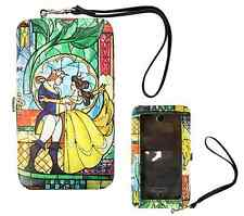 Disney Beauty and the Beast Stained Glass iPhone 4 4s 5 5s 5 Wallet & Hinge Case
